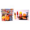 Mini kitchen fast food set (Multi color, 9 pieces)