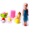 Pretend Play Kitchen Set Food Toy Cooking Set with Doll 4