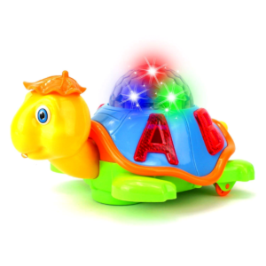 Bump and Go Turtle Toy with 3D Lights, Music and Projection