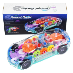 Bump and Go Transparent Car w/d Colorful Lights and Music