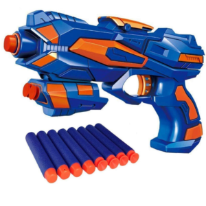 Foam Blaster Gun Toy, Safe and Long Range, 8 Soft Foam Bullets Perfect Guns for Boys Kids