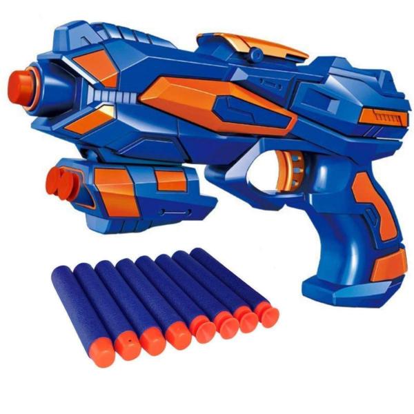 Foam Blaster Gun Toy, Safe and Long Range, 8 Soft Foam Bullets Perfect Guns for Boys Kids