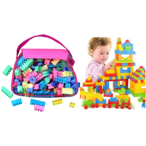 Building Blocks for Kids with Wheel Educational Toys Bricks Toys Sets